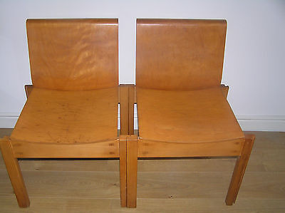 Mid Century Clive Bacon 60s Bent ply interlocking chairs