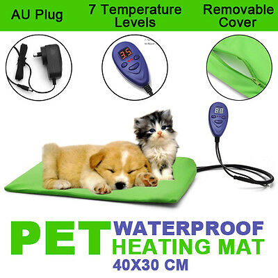 30X40CM Waterproof Pet Electric Heat Heated Heating Dog Cat Pad Mat Bed Thermal