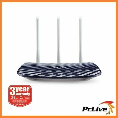 NEW TP-Link Archer C20 AC750 Dual Band Wireless Router AC 750Mbps WIFI 3 Antenna