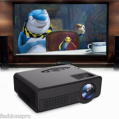 H100 LED Portable Projector Home Theater 600 Lumens 480 x 320P 3.5mm Audio/AV/DC