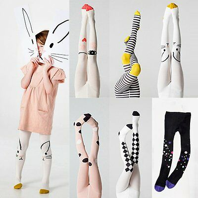 Cute Baby Kids Girls Cotton Tights Socks Stockings Pants Hosiery Pantyhose 1-9Y