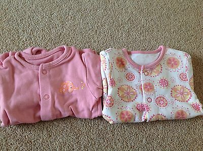 Baby girls sleep suits size 0-3 months