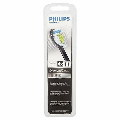 Philips Sonicare Diamond Clean Standard Toothbrush Head Black 4 per pack