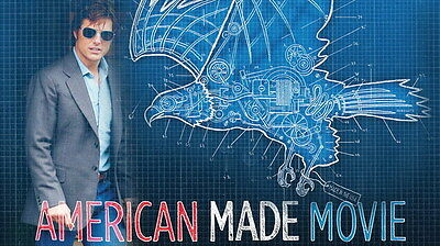 "002 American Made 2017 - Tom Cruise Crime Thriller 2017 USA Movie 24""x14"" Poster"