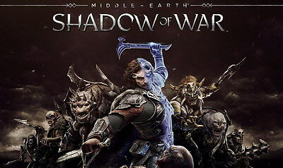 "003 Middle Earth Shadow of War - Army Orc Fight Game 23""x14"" Poster"