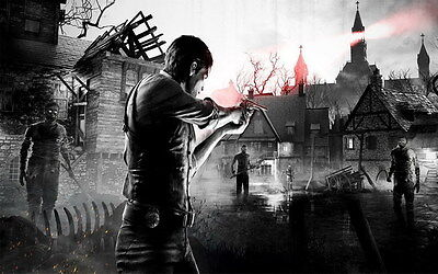 """014 The Evil Within - Ghost Survival Horror Shooting Game 22""""x14"""" Poster"""
