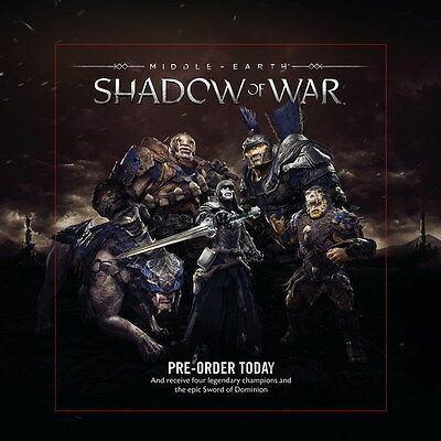 "009 Middle Earth Shadow of War - Army Orc Fight Game 14""x14"" Poster"