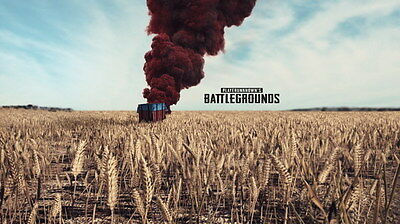 """005 PlayerUnknown Battlegrounds - Action Strategy Shooting Game 42""""x24"""" Poster"""