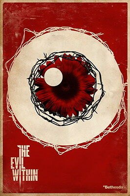 """003 The Evil Within - Ghost Survival Horror Shooting Game 24""""x36"""" Poster"""