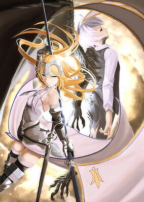 """015 Fate Apocrypha - Joan of Arc Magic War Fight Japan Anime 24""""x33"""" poster"""