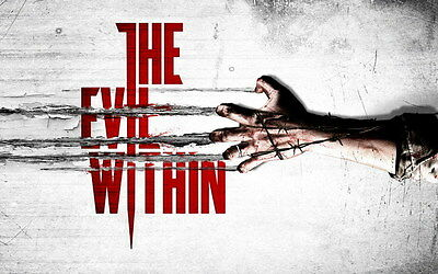 "004 The Evil Within - Ghost Survival Horror Shooting Game 38""x24"" Poster"