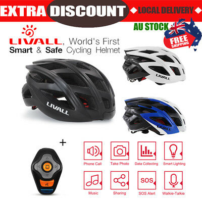 LIVALL Bicycle Bike Cycling Safety Smart Helmet Bluetooth Wireless SOS Handsfree