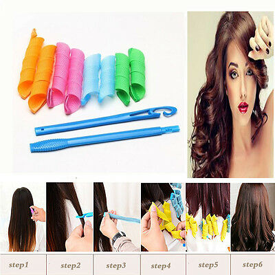 DIY Magic Hair Curler Leverag Curlers Formers Spiral Styling Rollers 20-55cm