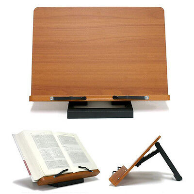 [Jasmine] Book Stand Bible Wooden Reading Holder Desk Bookstand Wiztem