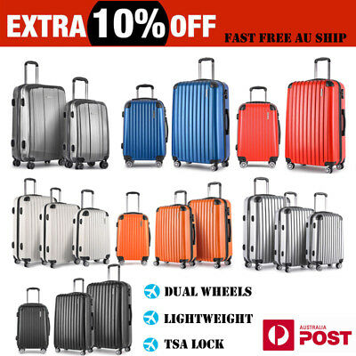 2/3PC Luggage Suitcase Trolley Set TSA Travel Carry On Bag Hard Case Lightweight