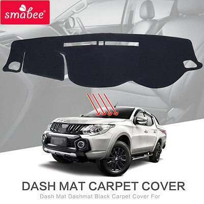 Dash Mat Dashmat Black Carpet Cover For MITSUBISHI TRITON L200 PICKUP 2015 2016
