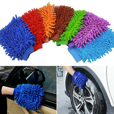 1Stk Easy Microfiber Car Kitchen Household Wash Washing Cleaning Glove Mit