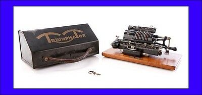 Antique Triumphator H Calculator in Great Working Order. Germany, 1920