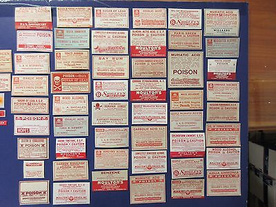 55=Old All Poison  Pharmacy Apothecary Medicine  Bottle Labels= Nice