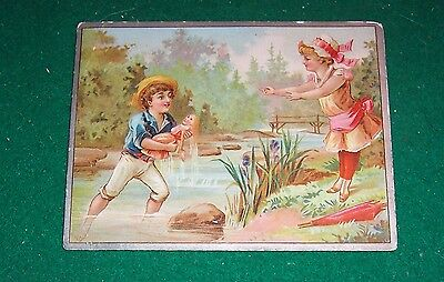 "VICTORIAN TRADE CARD  - ""SNEDICOR & HATHAWAY'S BOOTS AND SHOES"" - Detroit, Mich."
