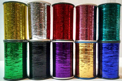New 10 x Lurex Spools Premium Thread pack with most demanding colours UK Seller