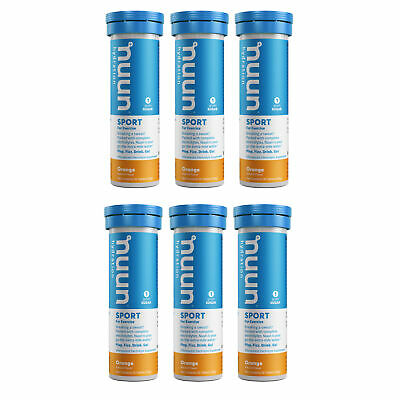 Nuun Sport: Orange Electrolyte Enhanced Hydration Tablets (6 Tubes of 10 Tabs)