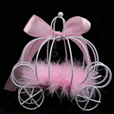 Sweet Pink Carriage Candy Box Wedding Favours