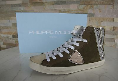 Philippe Model Paris Size 39 High Top Sneakers Bike Alta Shoes New Previously