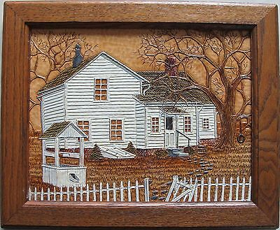 Stephen G Brown~original painting&cutting~Leather Scenes~artist's framed