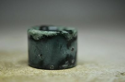 Superior quality Chinese natural jade carved Fingerstall sq8