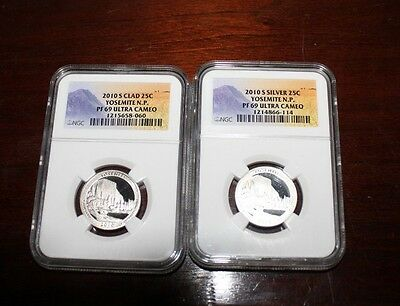 2010-S Silver Quarter 25 cents NGC PR69 Ultra Cameo Yosemite N.P.