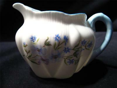 Shelley Blue Rock #13691 Footed Cream Pitcher/Creamer