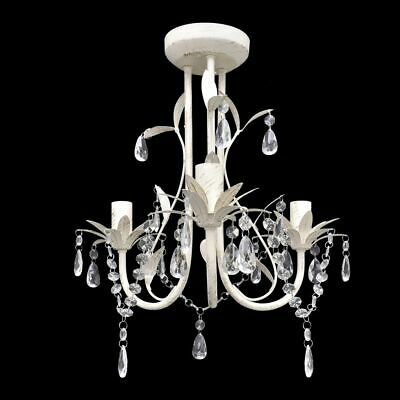 Elegant Crystal Chandelier Ceiling Light 3 Lamp Antique Pendant Lighting Fixture