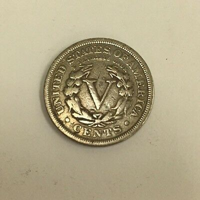 USA 1905 LIBERTY NICKEL 5 CENT COIN United States