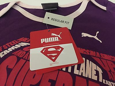 PUMA Girls Superman Top & Shorts Set - Brand New With Tags