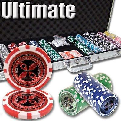NEW 600 Piece Ultimate 14 Gram Clay Poker Chips Set with Aluminum Case Custom