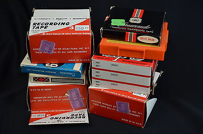 Lot of Vintage Micro 3 Inch Reel-to-Reel Tape Recorder Audio Tapes