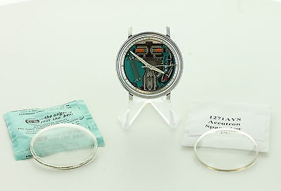 Bulova Accutron Spaceview Watch-Parts Only-SS-Face only