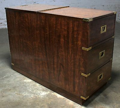 Campaign Style Chest Type Drexel Dry Bar Vintage Mid Century