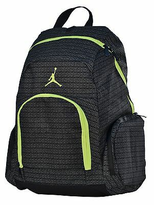 New Nike Jordan Jumpman Backpack - Black Volt Neon Green Basketball School bag