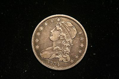 1834,  BUST Quarter , US Coin , VERY FINE ,  Full Liberty!