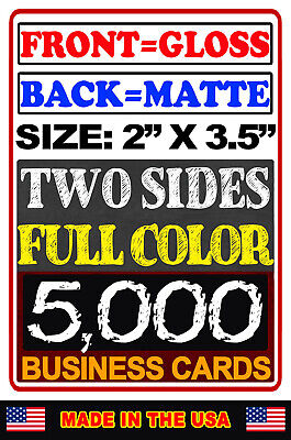 5000 FRONT GLOSS & BACK MATTE | Full Color | Business Cards BUY NOW! BYO Artwork