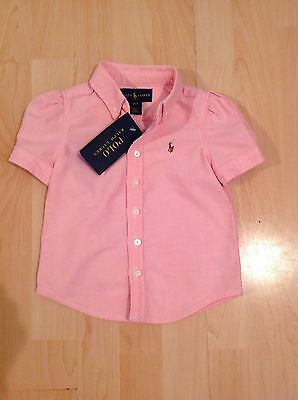 Polo Ralph Lauren Girl's Pink Short Sleeve Top For 2 Years BNWT