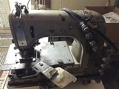 Industrial sewing machine KS with 2 needle, 4 threads, with table and motor
