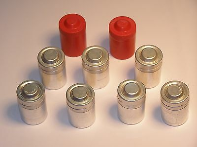 VERY UNIQUE Vintage 35 mm Film Canisters, 7 Metal, 2 Plastic, 2 Made In Germany.
