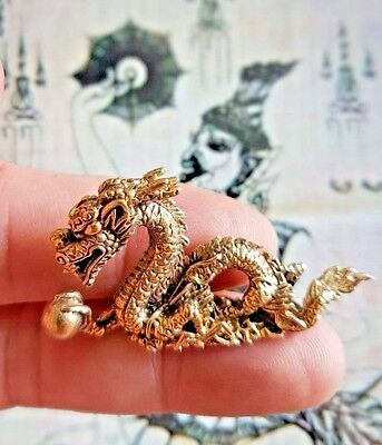 Thai Amulet statue Wealth Dragon Powerful Hunting Money Love Luck Sculpture