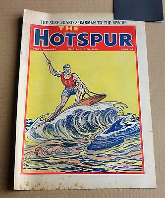 """VINTAGE D.C. THOMPSON  """"THE HOTSPUR""""  COMIC #712  DATED JULY 1st 1950"""
