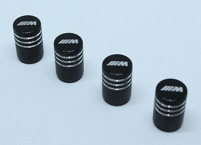 4x Valve Caps for BMW Aluminium Dust Caps for M-Series Brand New Black Check