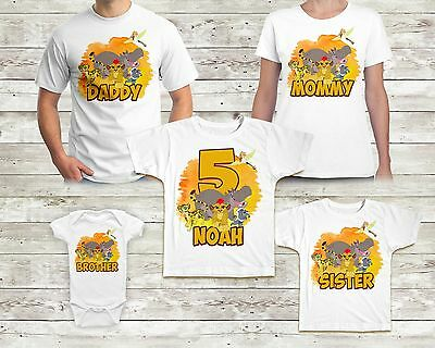 Lion Guard Birthday Shirt Custom Name and Age TShirt Family Birthday Party
