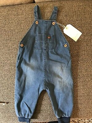 Zara Mini Denim Dungarees (6-9 Months)